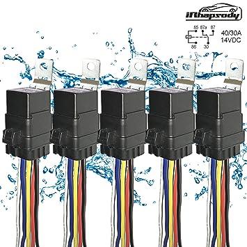 Amazoncom 5 PACK 4030 AMP Automotive Waterproof Relay Switch - Heavy Duty 5 Pin Relay