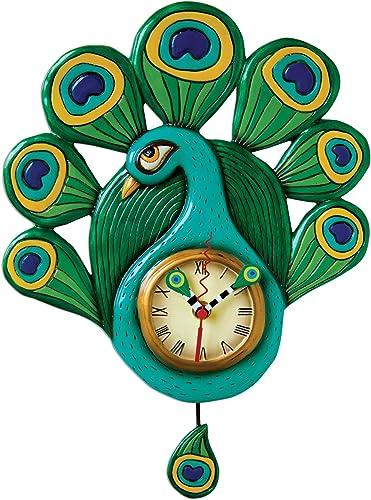 Allen Designs Pretty Peacock clock