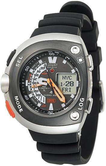 Citizen JV0030-01E - Reloj de Pulsera Hombre, Caucho, Color Negro: Amazon.es: Relojes