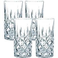 Spiegelau & Nachtmann 4-teiliges Longdrink-Set, Kristallglas, 375 ml, Noblesse, 89208