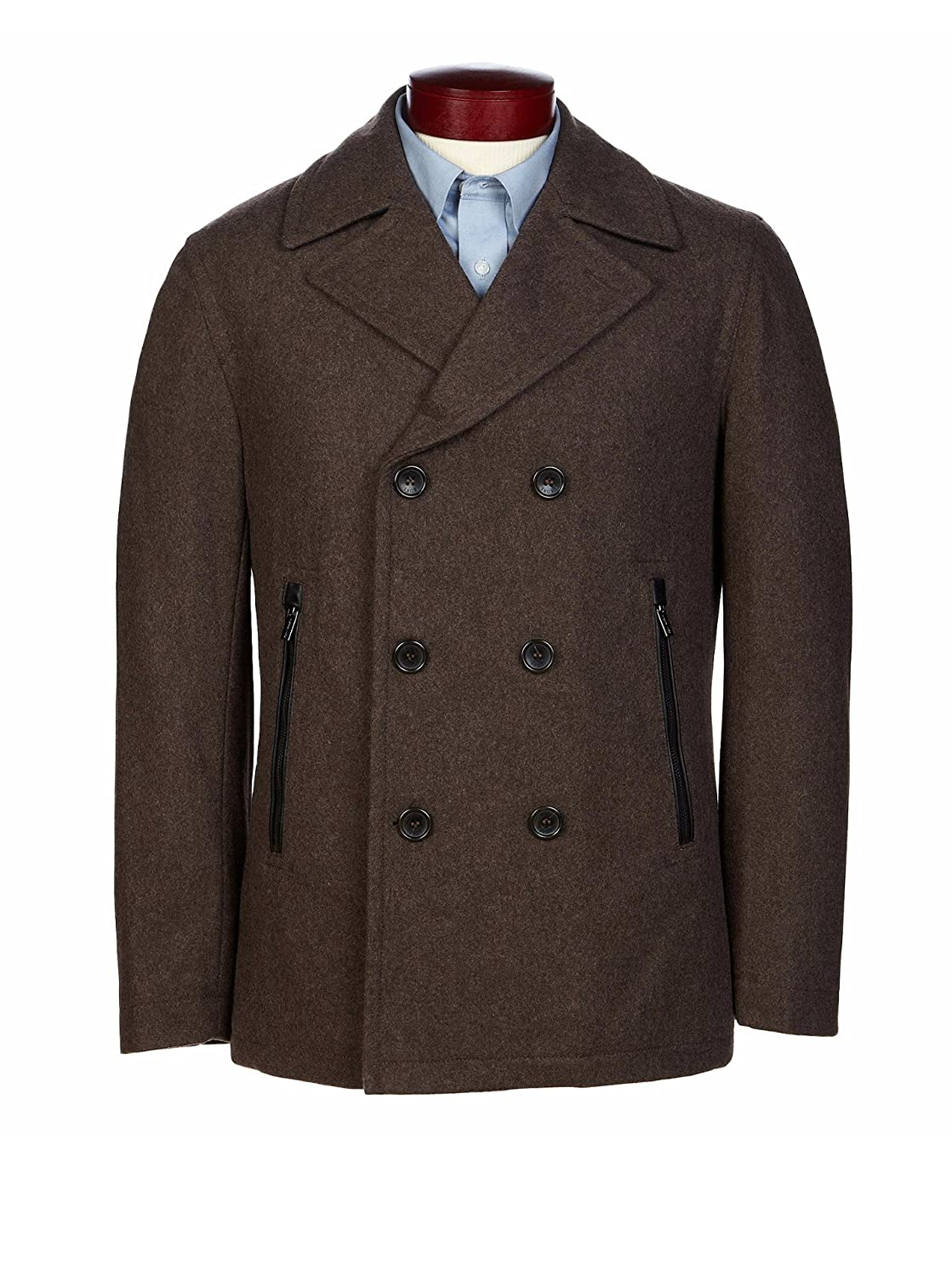 Michael Kors Wool Pea Coat Men's mk16454nbd at Amazon Men's ...