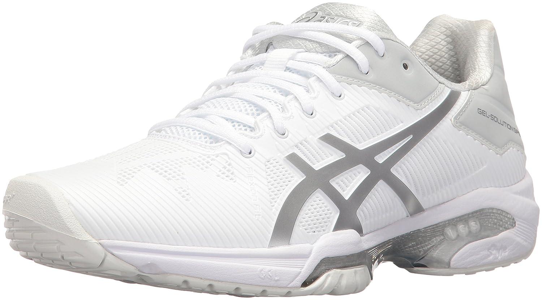 ASICS Women's Gel-Solution Speed 3 Tennis Shoe B01H319ARC 9.5 B(M) US|White/Silver