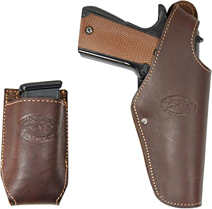 Colt Full Size 9mm 40 45 New Barsony OWB Gun Belt Loop Holster for Browning