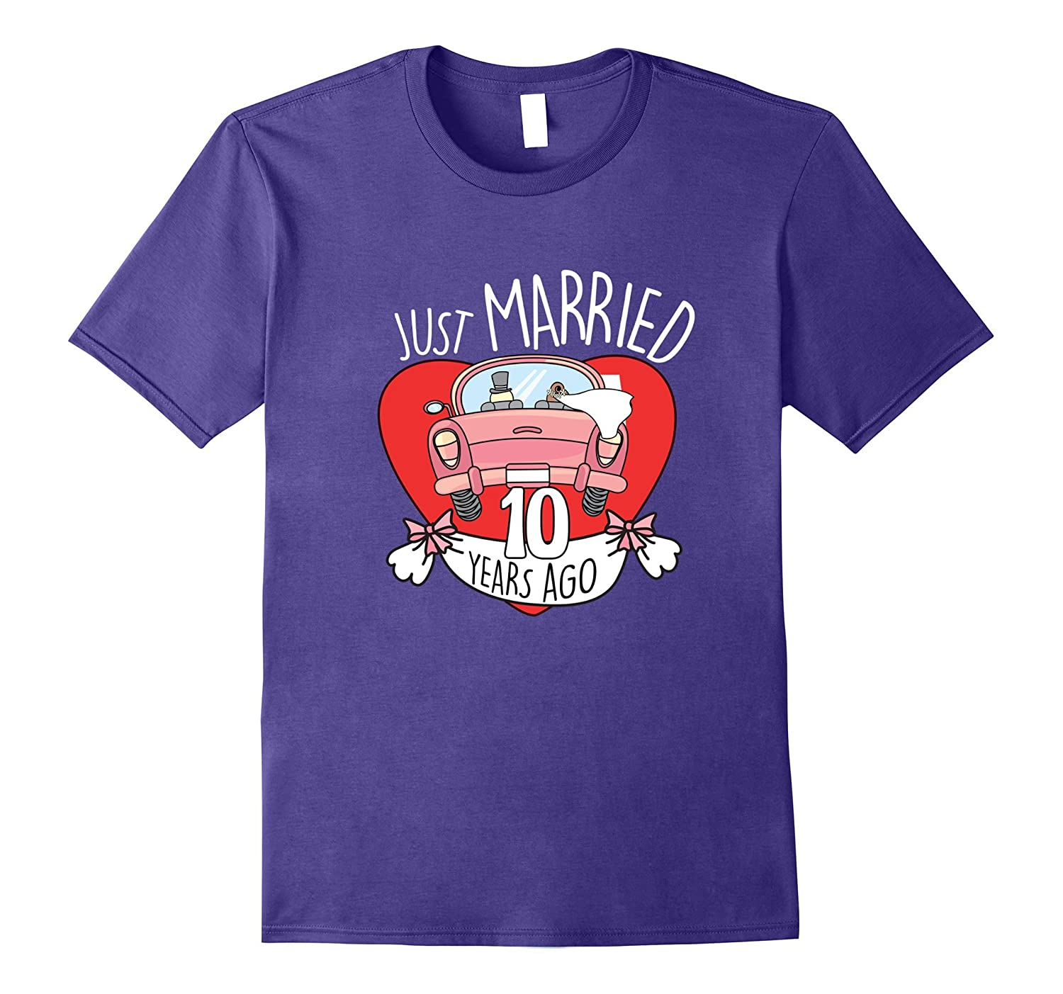10 Years Of Love Tshirt. Funny 10th Wedding Anniversary Gift-TH