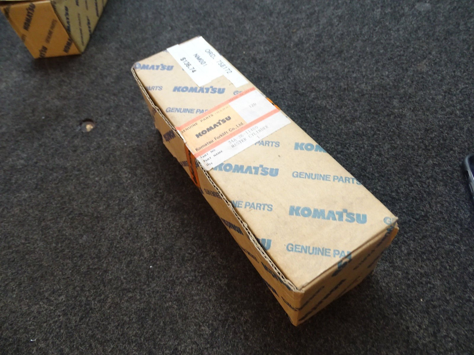 Komatsu Forklift 34A-36-11400 Master Cylinder 3/4'' Bore/New Sealed