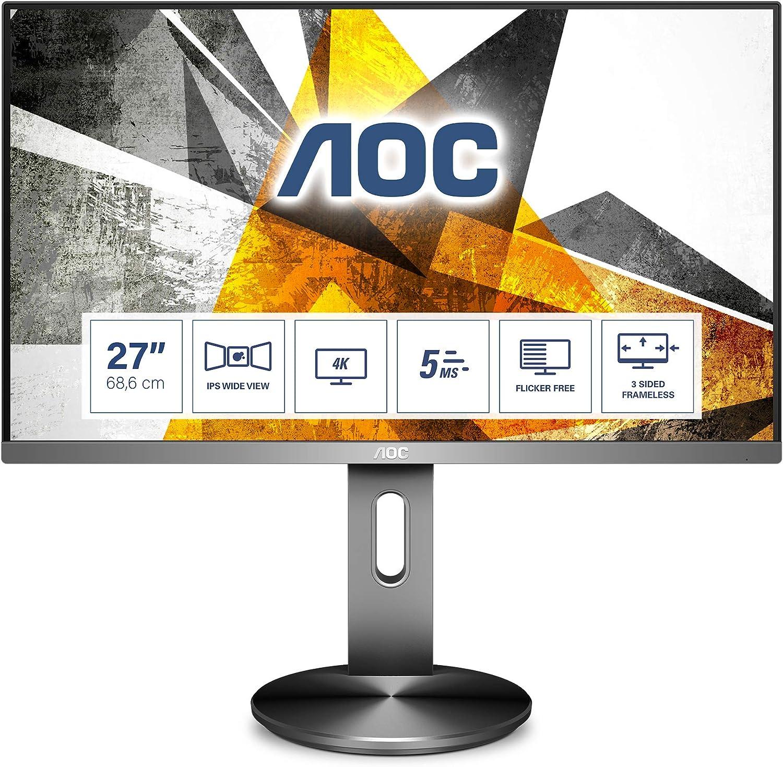 Aoc U2790pqu 27 Zoll Uhd Monitor Höhenverstellbar Computer Zubehör