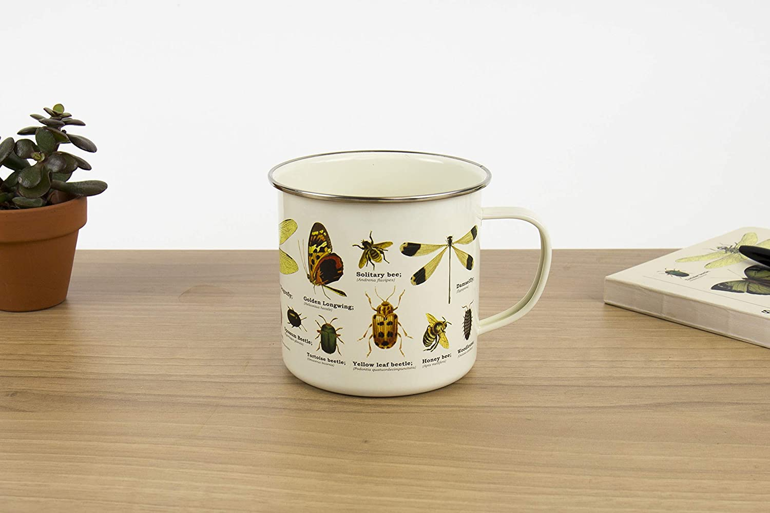 Multicolor Gift Republic GR270097 Insects Enamel Mug