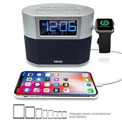 72c38a5e1f0 Image Unavailable. Image not available for. Color  iHome Bluetooth Dual  Alarm FM Clock Radio ...