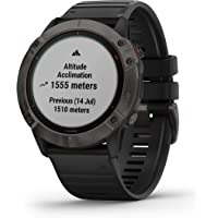 Garmin fenix 6X Pro Solar, Premium Multisport GPS Watch, 51mm, Features Mapping, Music, Grade-Adjusted Pace Guidance…
