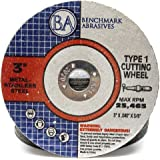 "Benchmark Abrasives 3"" x .040"" x 3/8"" Thin Metal Cutting Wheels - 25 Pack"
