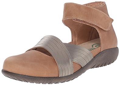 Naot Women's Tenei Flat Sandal, Latte Brown Combo, ...