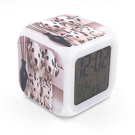 Boyan LED Alarma Reloj de dálmata diseño de perro Creative ...