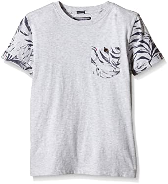 870be609 Tommy Hilfiger Kids Boys' Palm Leaf CN TEE S/S T-Shirt, Gray, 0 ...