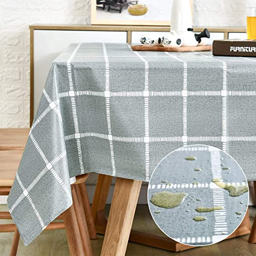 7 Colours Lifestyle  Polka Dot Tablecloth Vinyl PVC Oilcloth WipeClean Fabric