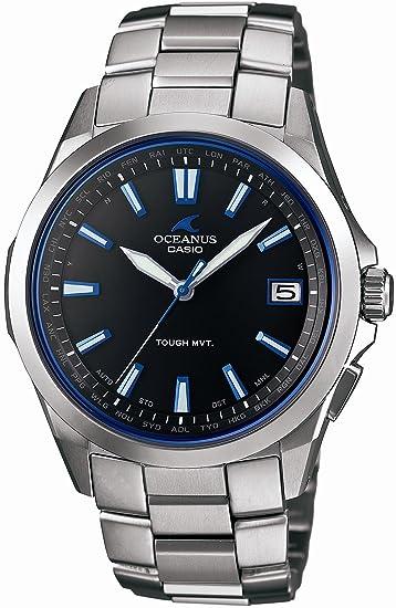 Casio OCEANUS ocw-s100 - 1 AJF rígida Solar Radio Reloj para hombre: Amazon.es: Relojes