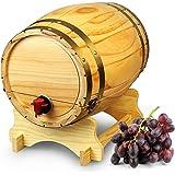 Holz Weinfass Spender Kiefer Natur 10Liter-Vintage Stil Tabletop Wein Spender