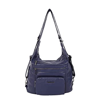 92c8f43ae99034 Angel Barcelo Weiches geräumiges Fashion Hobo Damen Handtaschen Damen  Geldbeutel Tasche Schultertaschen Tasche gewaschen Ledertasche (