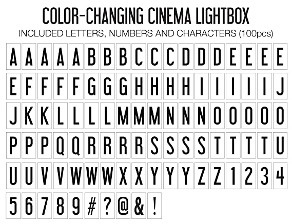 Amazon.com: My Cine Lightbox iluminación Home Decor Que ...