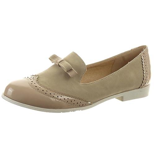 Sopily - Zapatillas de Moda Zapato acento Mocasines Tobillo mujer brillantes Talón Tacón ancho 2 CM - Caqui FRF-BL90 T 41: Amazon.es: Zapatos y complementos