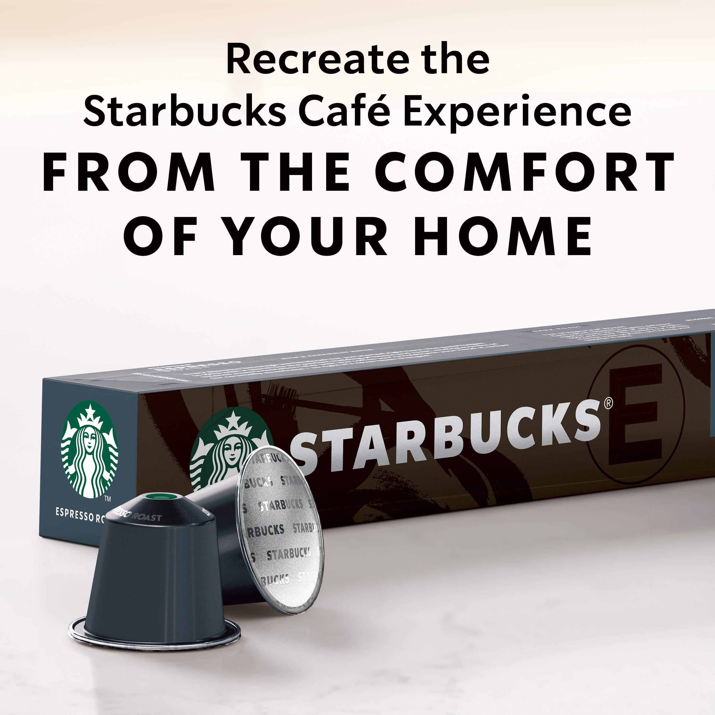 Starbucks by Nespresso, Espresso Dark Roast (50-count single serve capsules, compatible with Nespresso Original Line System) by Starbucks for Nespresso (Image #6)