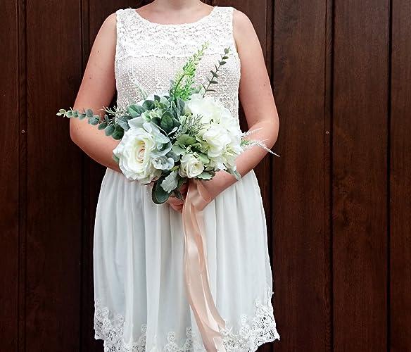 Amazon best quality boho wedding bouquet silk flowers cream best quality boho wedding bouquet silk flowers cream greenery mightylinksfo