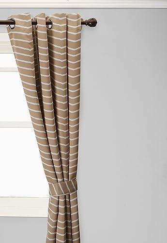 Home Fashion Room Darkening Blackout Chevron Print Curtains