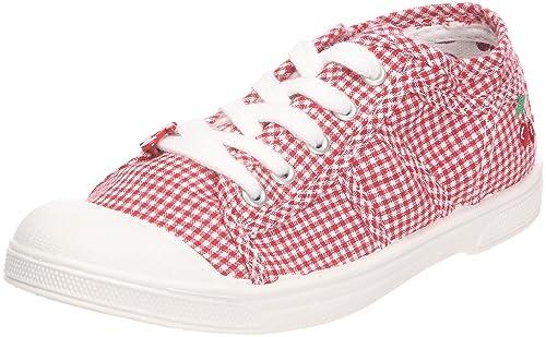 8eeaa35ac Little Cerise Basic 02 Vichy Vichy Red - Zapatillas de tela para niña