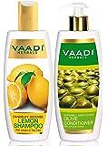 Vaadi Herbals Dandruff Defense Lemon Shampoo, 350ml with Olive Conditioner, 350ml