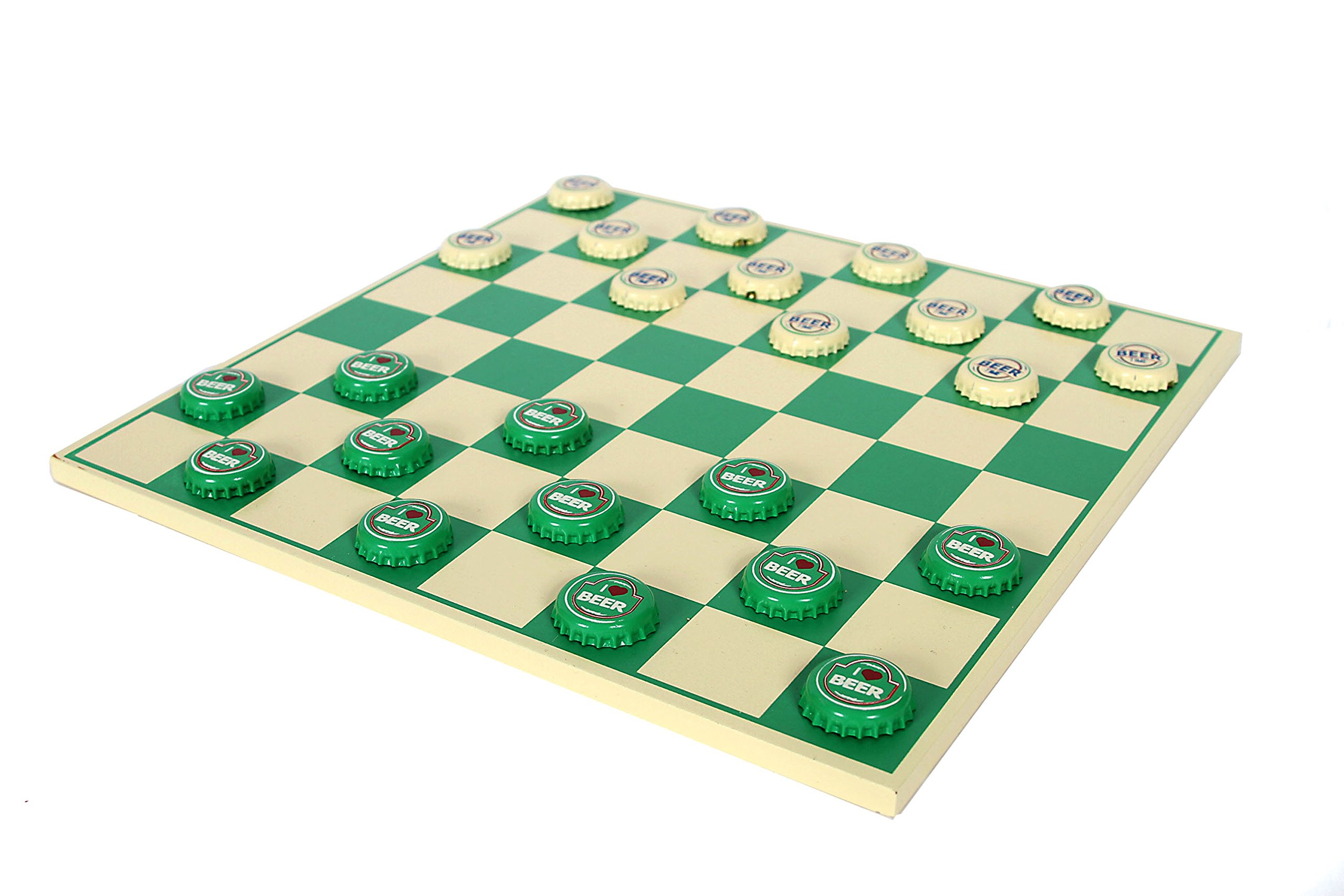DEI Beer Cap Checkerboard Game, 12-Inch