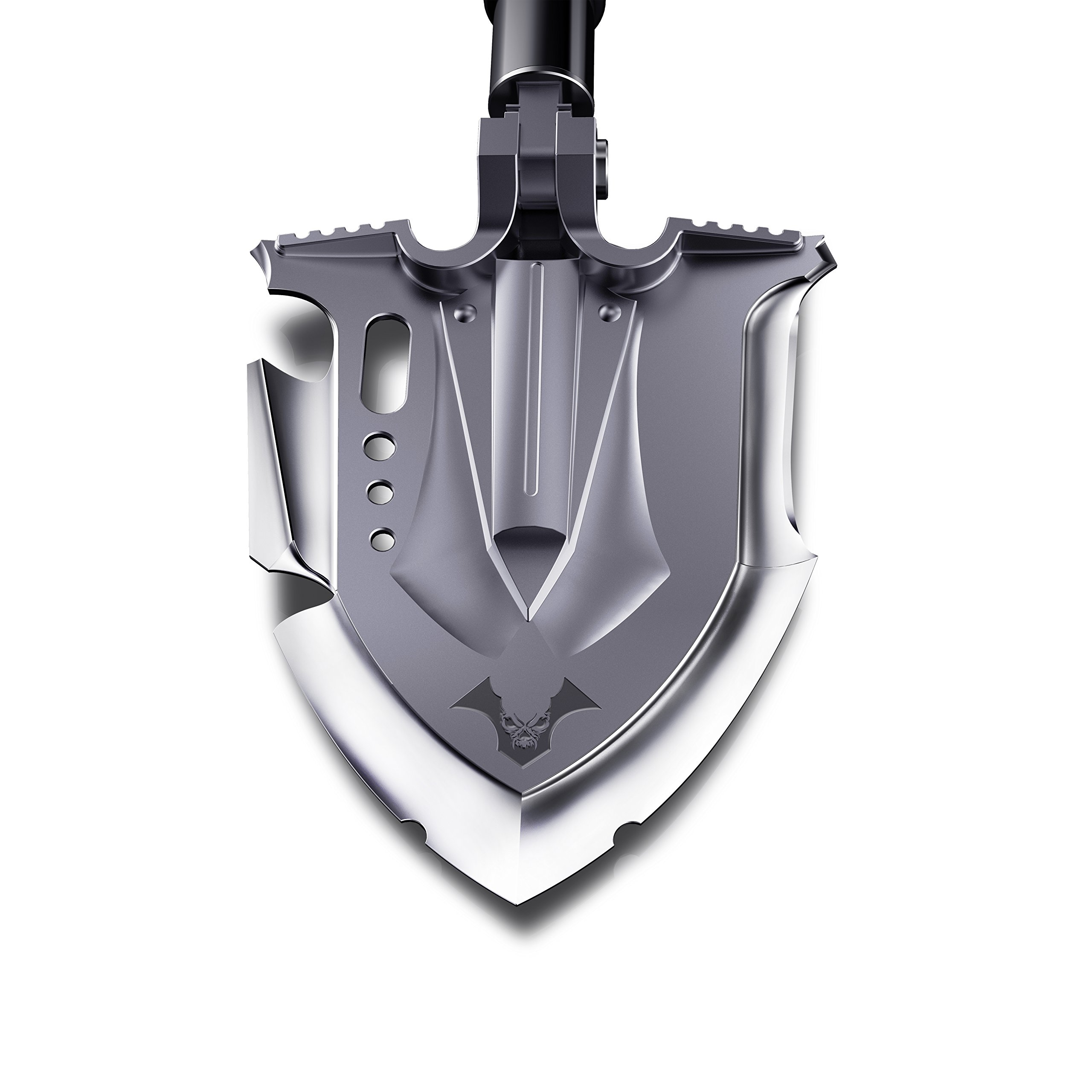 Zune Lotoo Annihilate Tactical Military Folding Multifunction Shovel, Casting Steel, With battle axe and battle bayonet