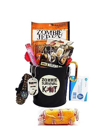 Amazon.com : Zombie Apocalypse Survival Gift Basket with Walking ...