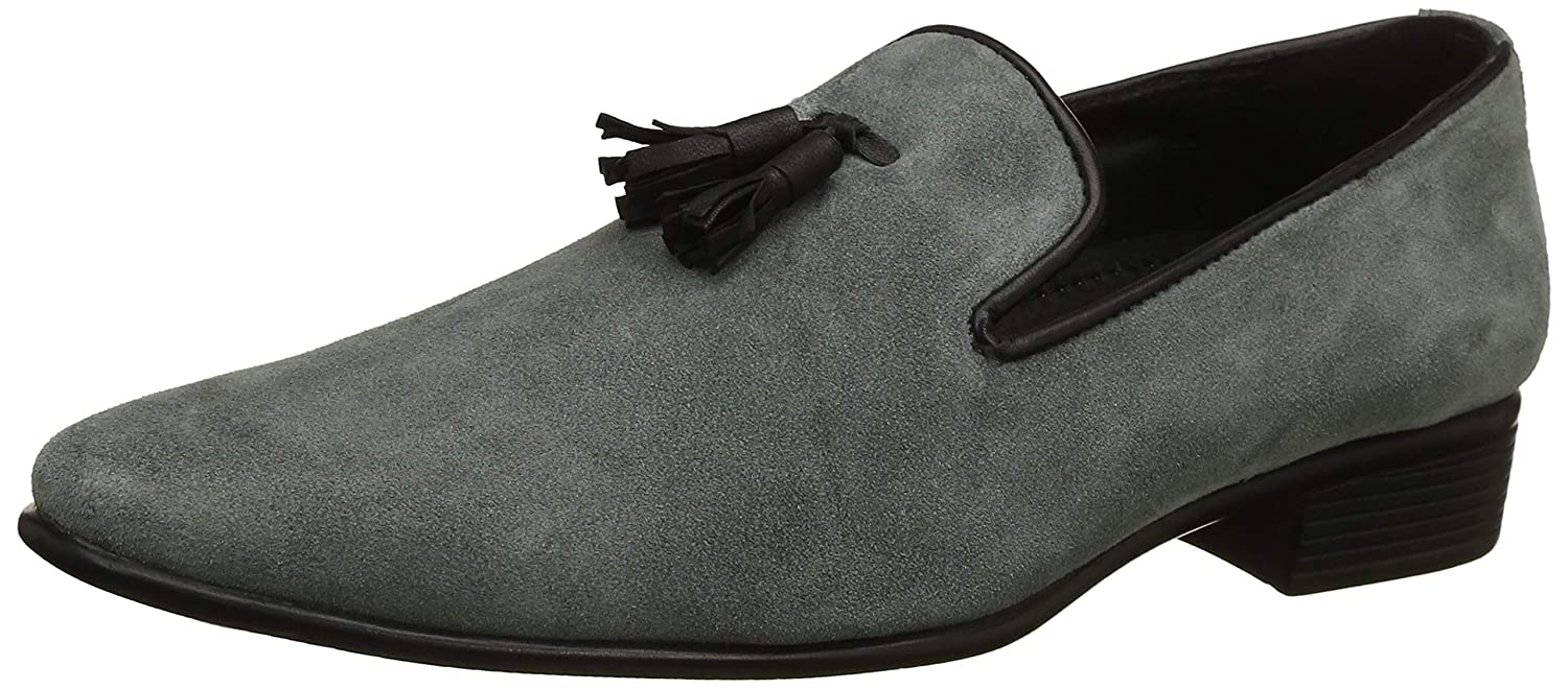 3dac745e15c Hirel s Men Grey Suede Leather Tassel Mocassion Loafers  Buy Online at Low  Prices in India - Amazon.in