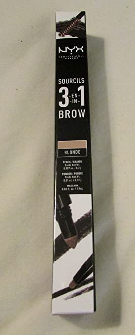 NYX Cosmetics 3-In-1 Eyebrow Brow Blonde 31B01 Pencil/Crayon Powder &