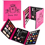 SHANY Beauty Book Makeup Kit – All in one Travel Makeup Set - 35 Colors Eye shadow, Eye brow, blushes, powder palette,10…