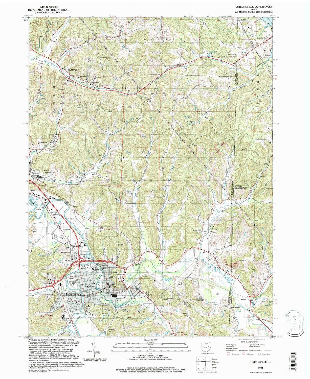 Amazon.com : Uhrichsville OH topo map, 1:24000 scale, 7.5 X 7.5 ...