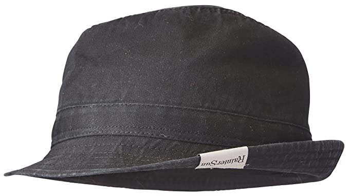 4db9b7ce Amazon.com : RainierSun Derby Sun Hat, Washed Black, One Size : Sports &  Outdoors
