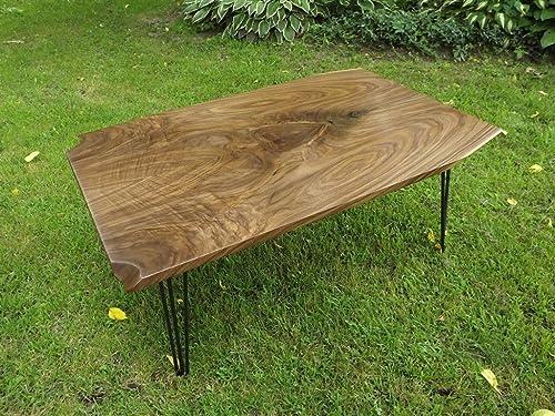 Amazon Com Walnut Slab Coffee Table Live Edge Bookmatch Steel