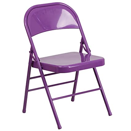 Charmant Leisure Series Colorful All Metal Folding Chair   Indoor Outdoor Easy To  Clean With 300