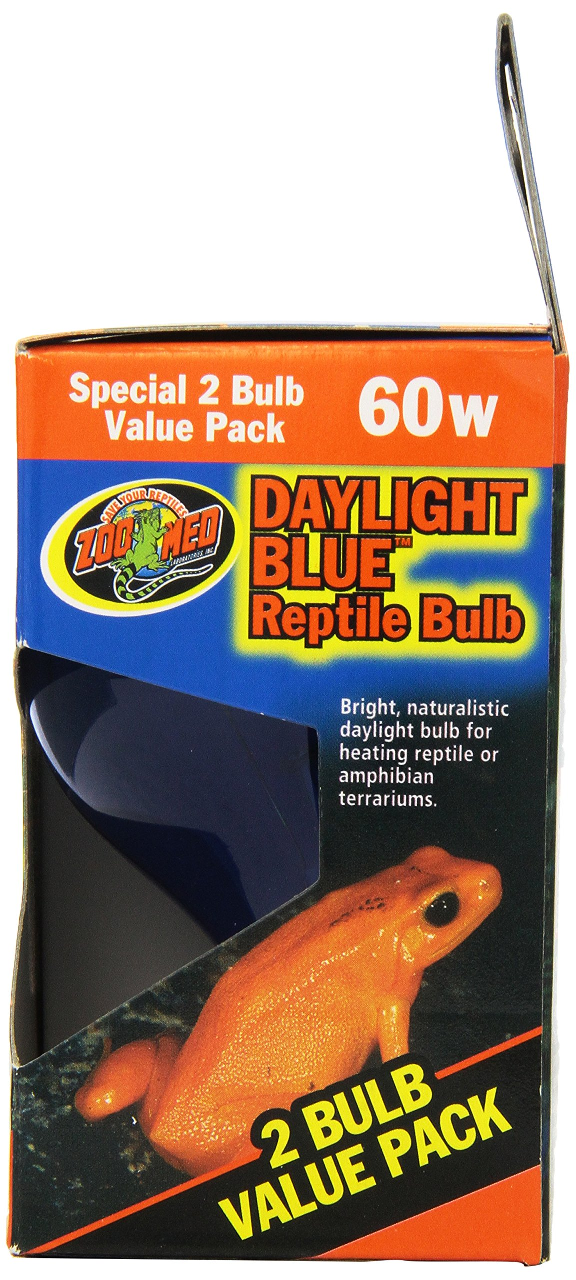 Zoo Med 2-Pack Daylight Blue Reptile Bulb, 60-watt by Zoo Med (Image #2)