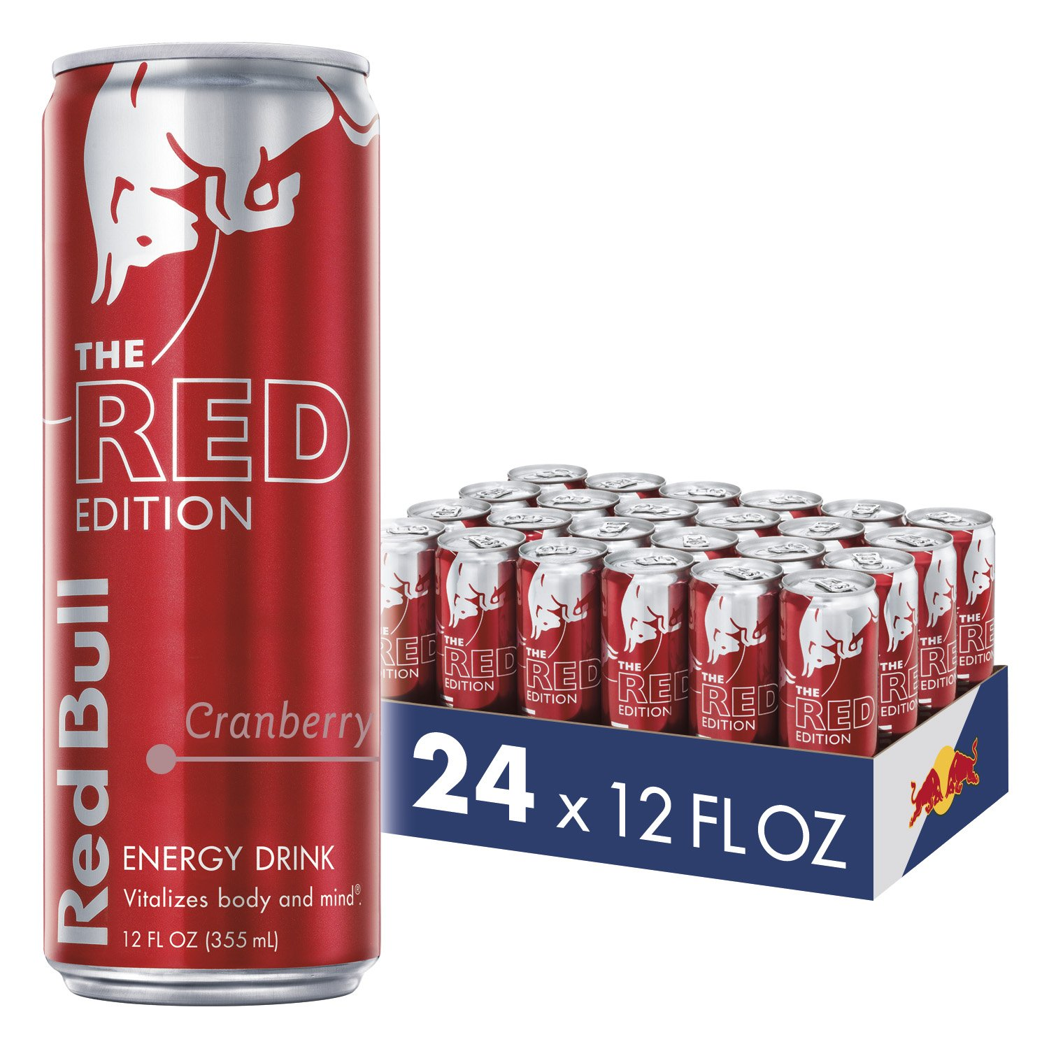 Red Bull Energy Drink, Cranberry, 24 Pack of 12 Fl Oz, Red Edition by Red Bull (Image #1)