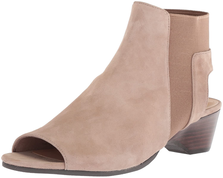 Bella Vita Women's Parson Wedge Sandal B07822Z1VR 8.5 W US|Almond Kid Suede
