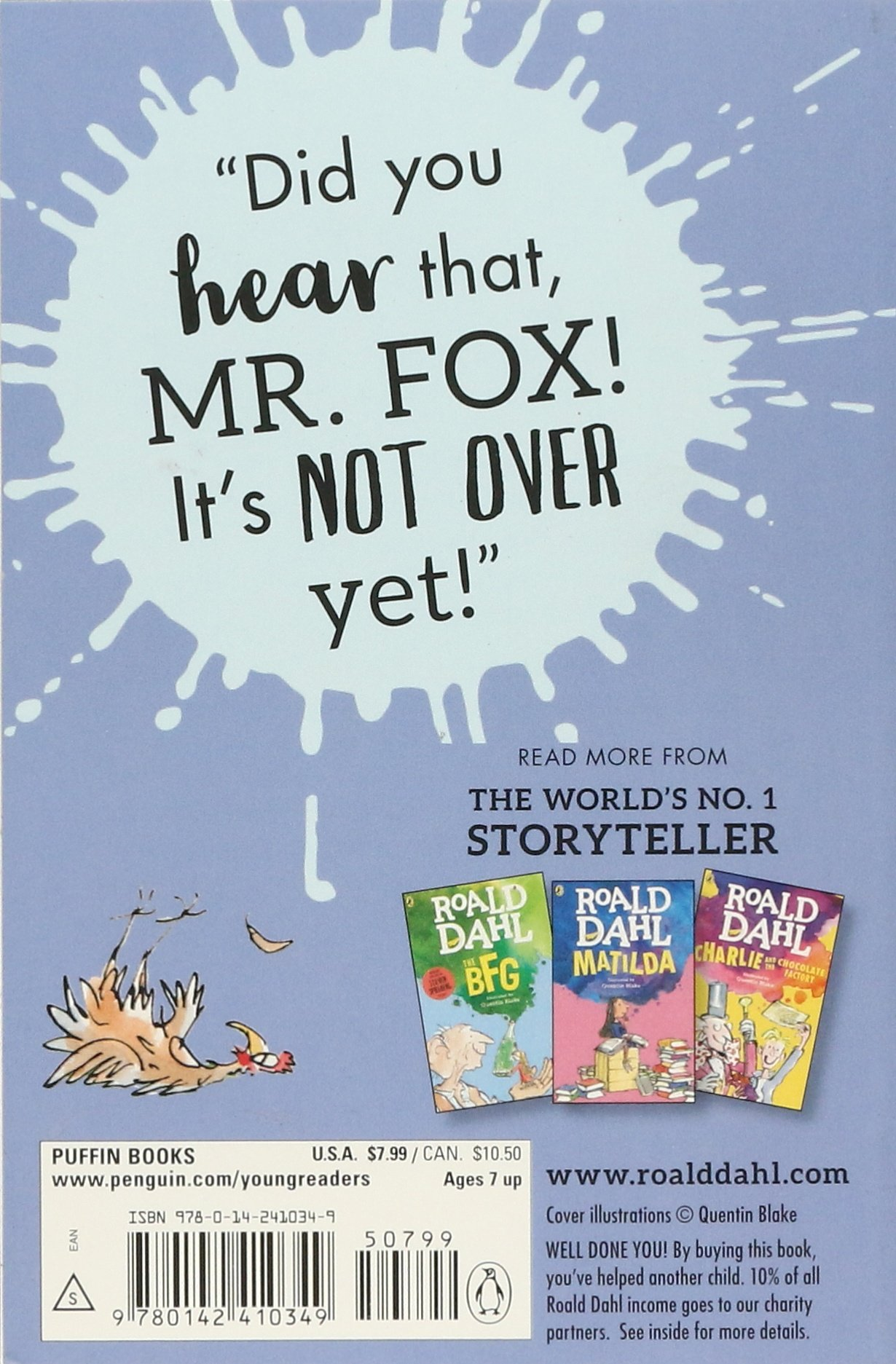 Fantastic Mr Fox Dahl Roald Blake Quentin 8580001048246 Amazon Com Books