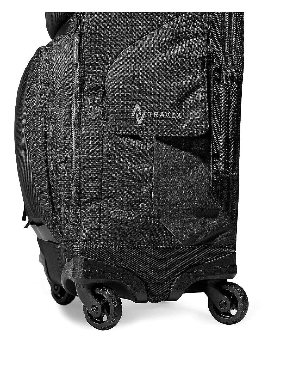 Amazon.com  Eddie Bauer Unisex-Adult Travex Voyager 2.0 Rolling Bag ... 007b9a69ba85c