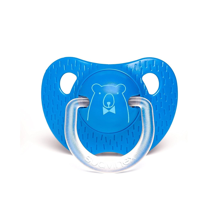 Suavinex 303338 +18 meses Chupete tetina anat/ómica silicona color azul oscuro