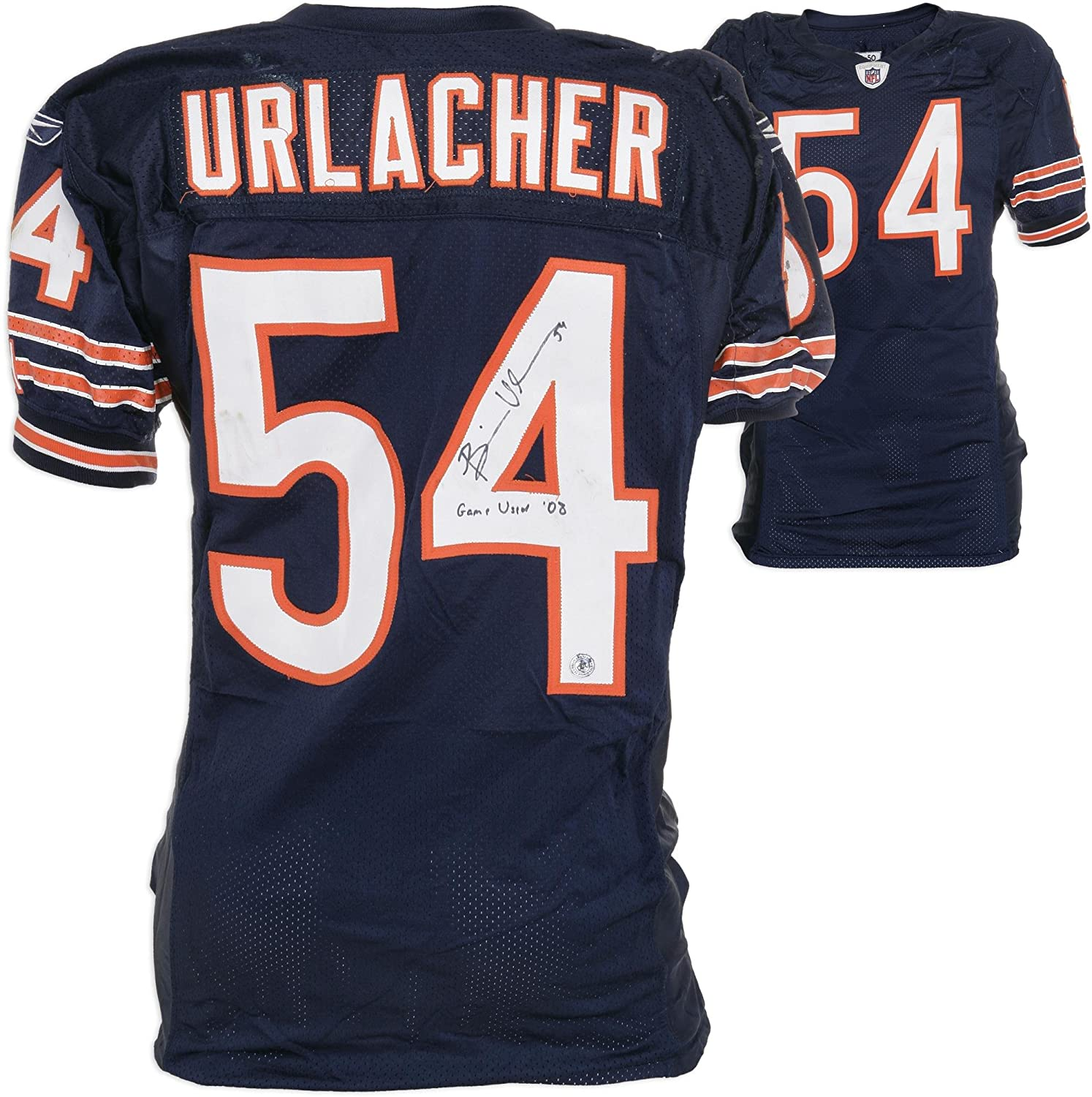 Amazon.com  Chicago Bears Brian Urlacher Reebok Game-Used Autographed Jersey  - Fanatics Authentic Certified - NFL Autographed Game Used Jerseys  Sports  ... b4fda047f