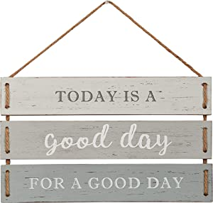"Barnyard Designs Today is a Good Day for a Good Day Quote Wall Decor, Decorative Wood Plank Hanging Sign 17"" x 9.75"