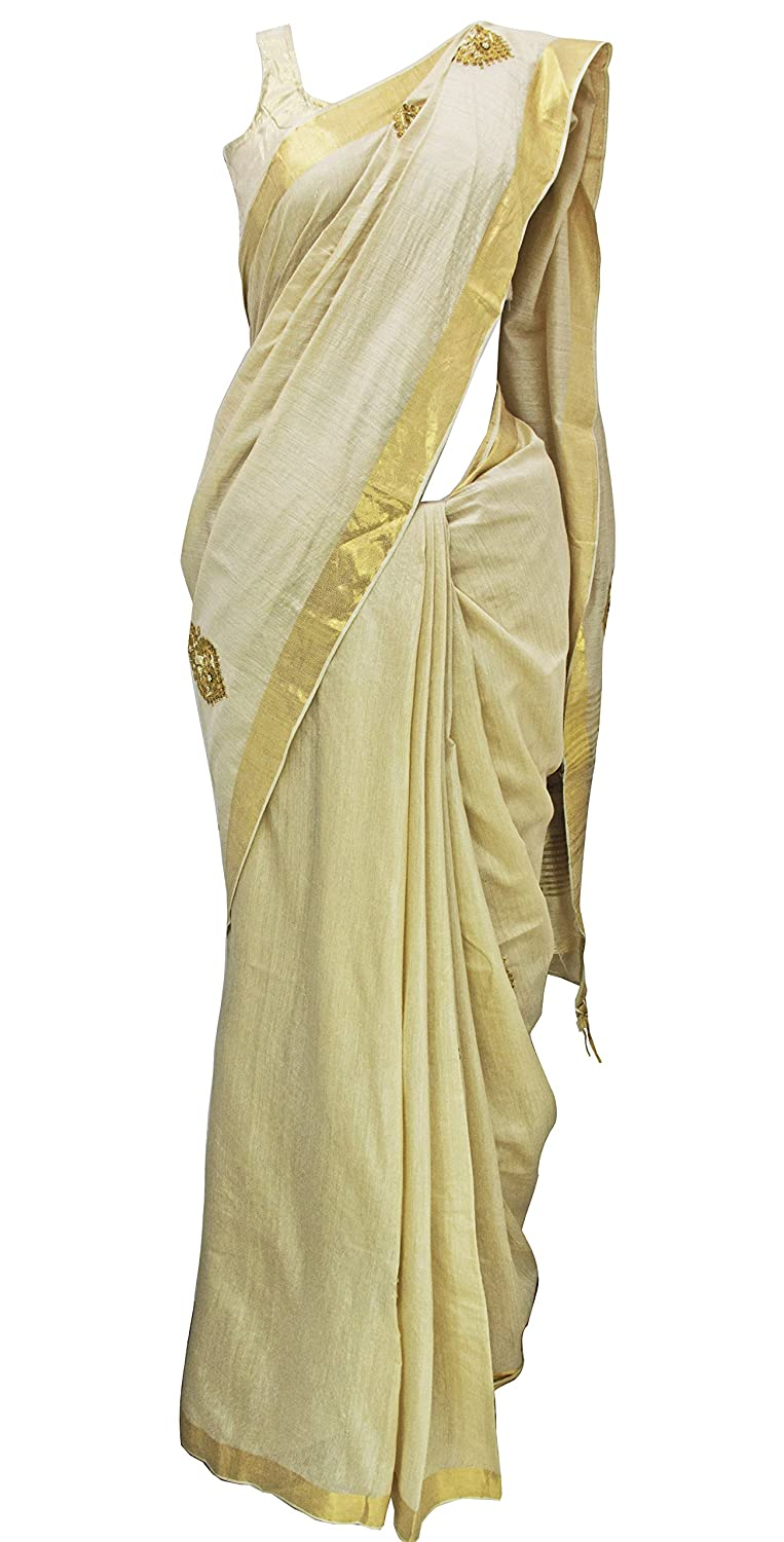593167ad2ca46 Amazon.com  Golden Zardozi Silk Saree  Clothing