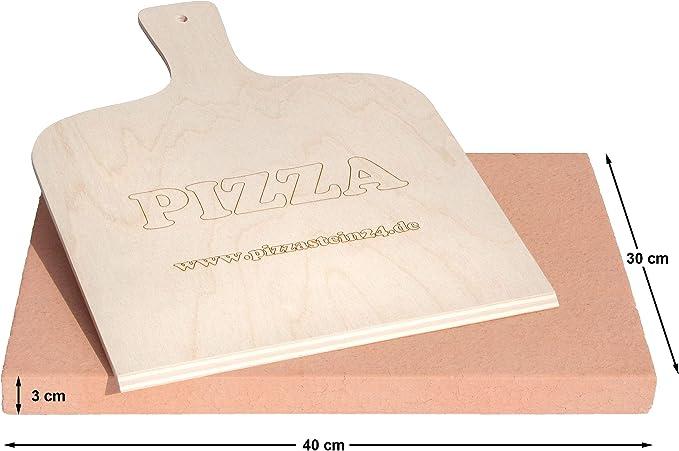 PUR Schamotte /® Pizzastein Brotbackstein Rund Grill Backofen 19 cm x 2 cm