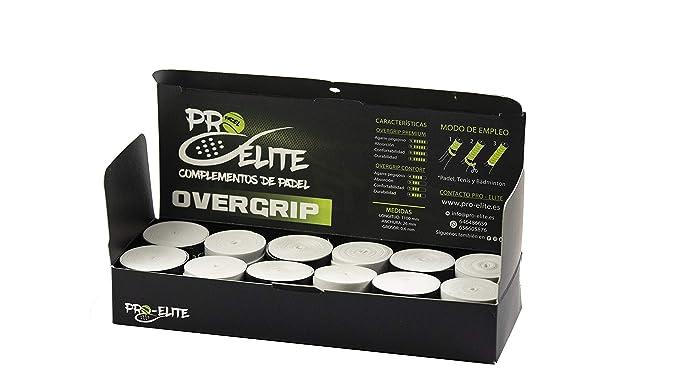 overgrips Pro Elite Premium Perforados Blancos. Caja 10+2 unds.: Amazon.es: Deportes y aire libre