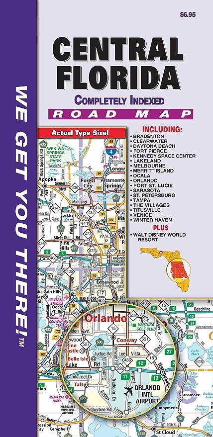 Map Central Florida.Amazon Com Walt Disney World Central Florida Regional Fold Map